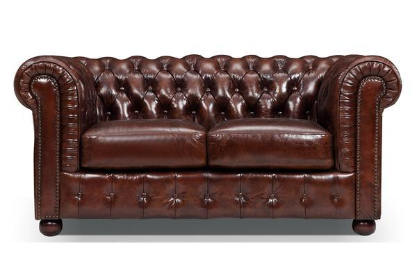 China Modern Design Classic Brown Leather Chesterfield Sofa - China ...