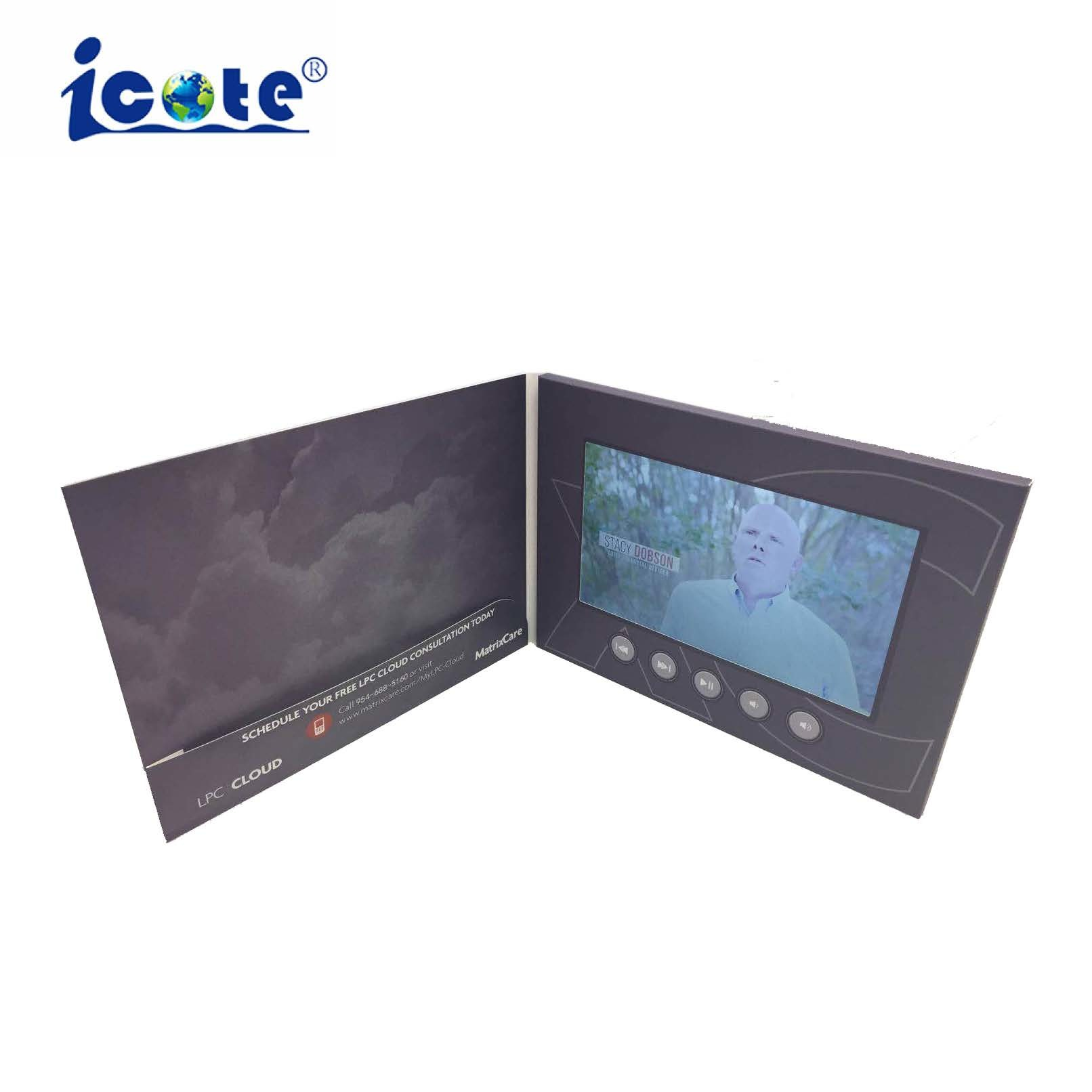 [Hot Item] Paper Craft LCD Video Brochure Kits Video Card for Gifts