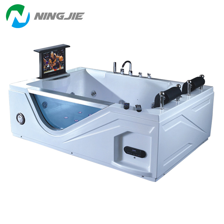 China with TV Double Air Bubble Bath Massage Bathtub Jacuzzi (5211 ...