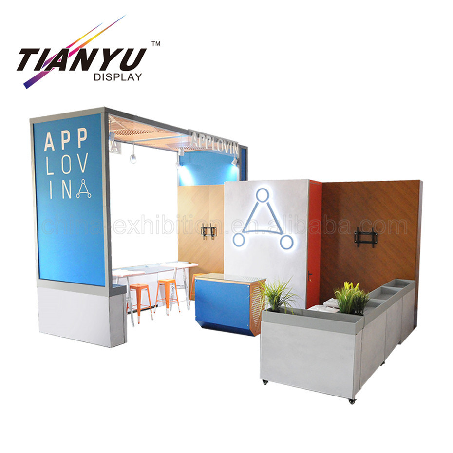 Exhibition Booth Backdrop : China portable trade show fabric display backdrop 3*3 standard