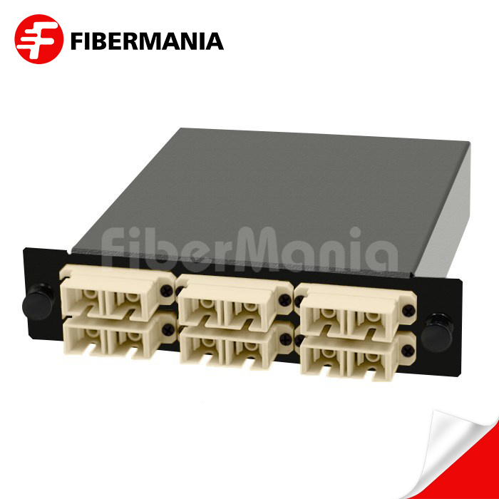 MTP-12 MPO//MTP Cassette Module 12 Fibers OM3 Multi-Mode 6 LC Duplex Type A