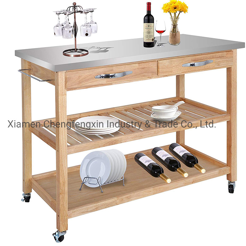 Cart Rolling Kitchen Island Utility
