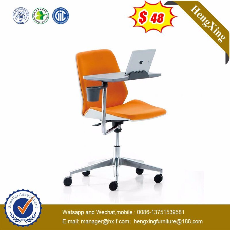 Movable Training Chair Tablet Writing with Chromed Frame Stack Padded Cushion Office Chair (HX-6C076B) pictures & photos