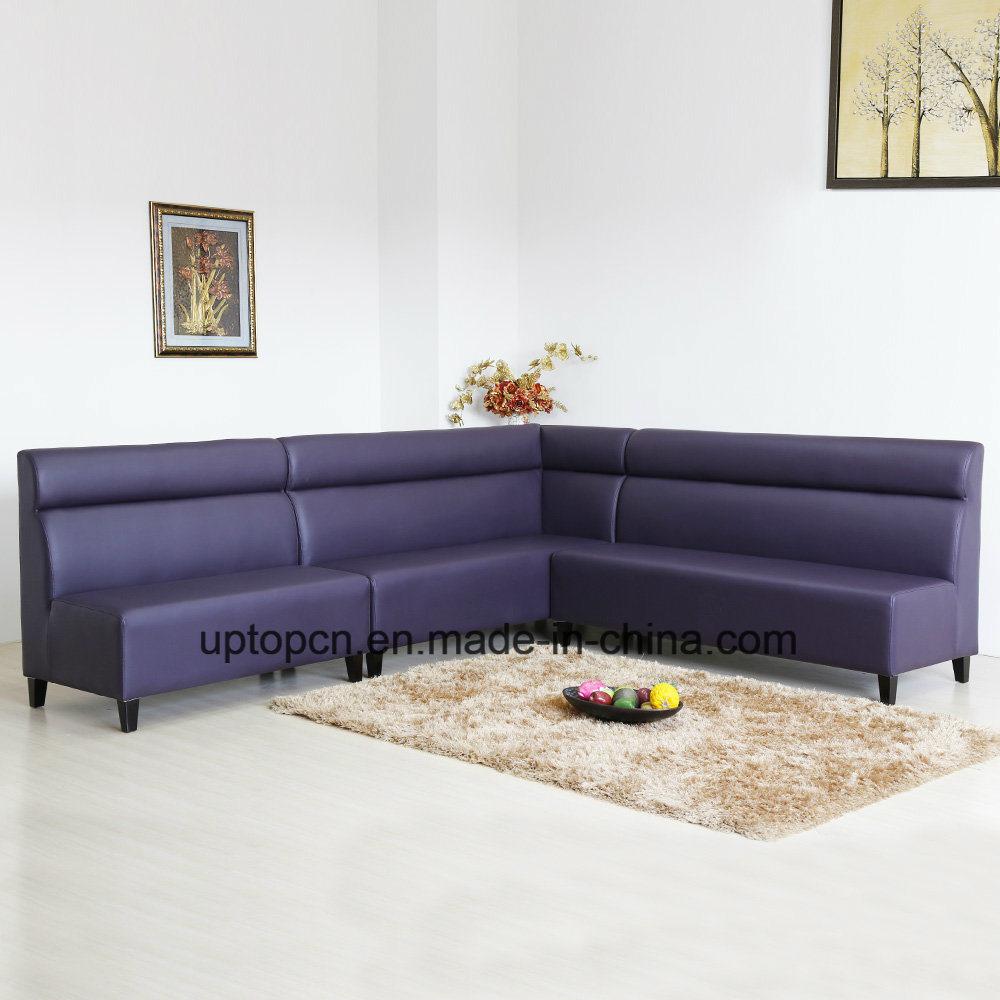 Long Banquette: China (SP-KS242) Custom Leather Long Corner Banquette Sofa