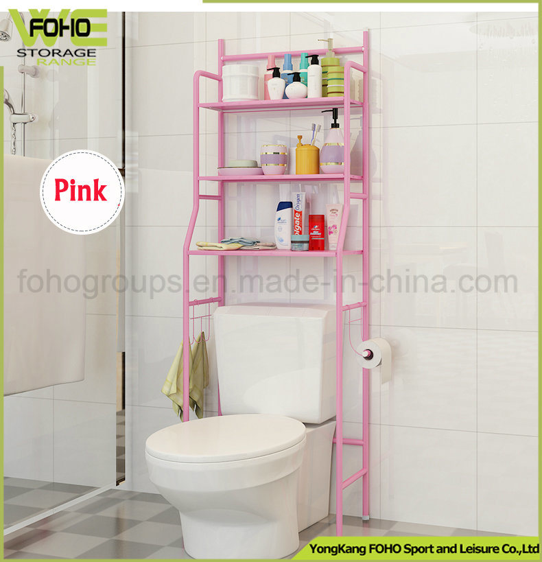 China Bathroom Shelf Space Saver Over The Toilet Wire Metal Shelves ...
