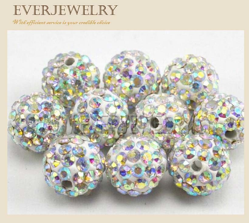 Crystal Rhinestone Roundel Spacer Beads