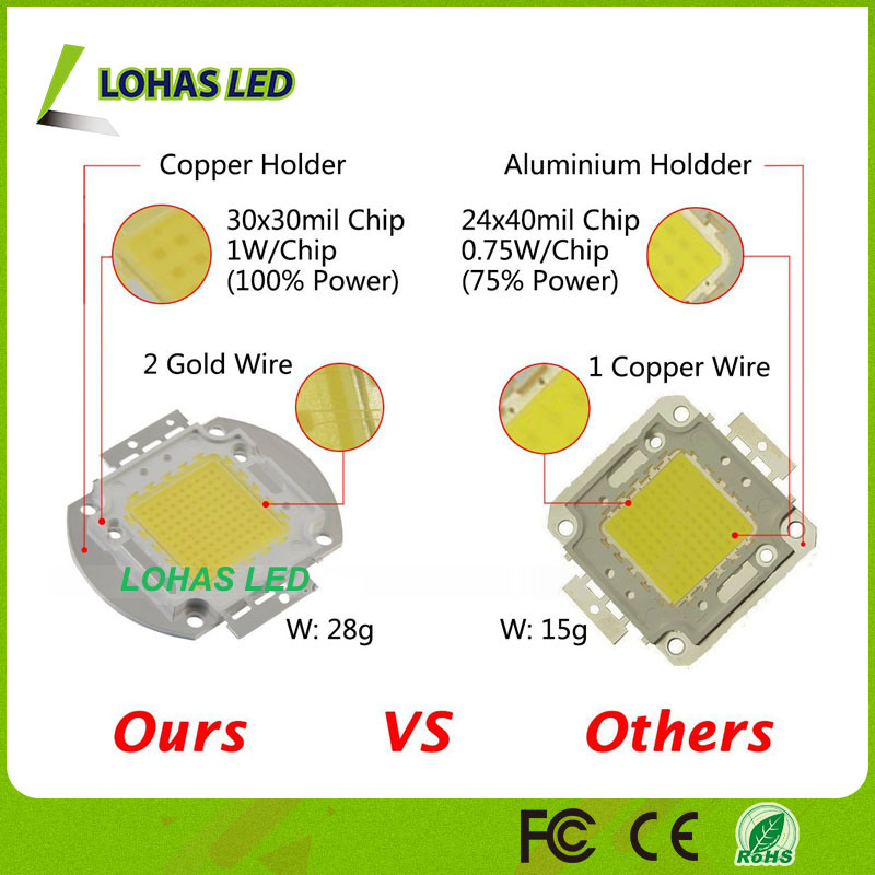 China 3v 12v 30 36v 10w 20w 30w 50w 100w Cob Led Chip
