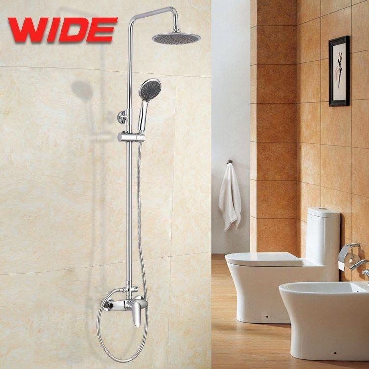 Chrome Wall Mounted Bath Shower Faucet