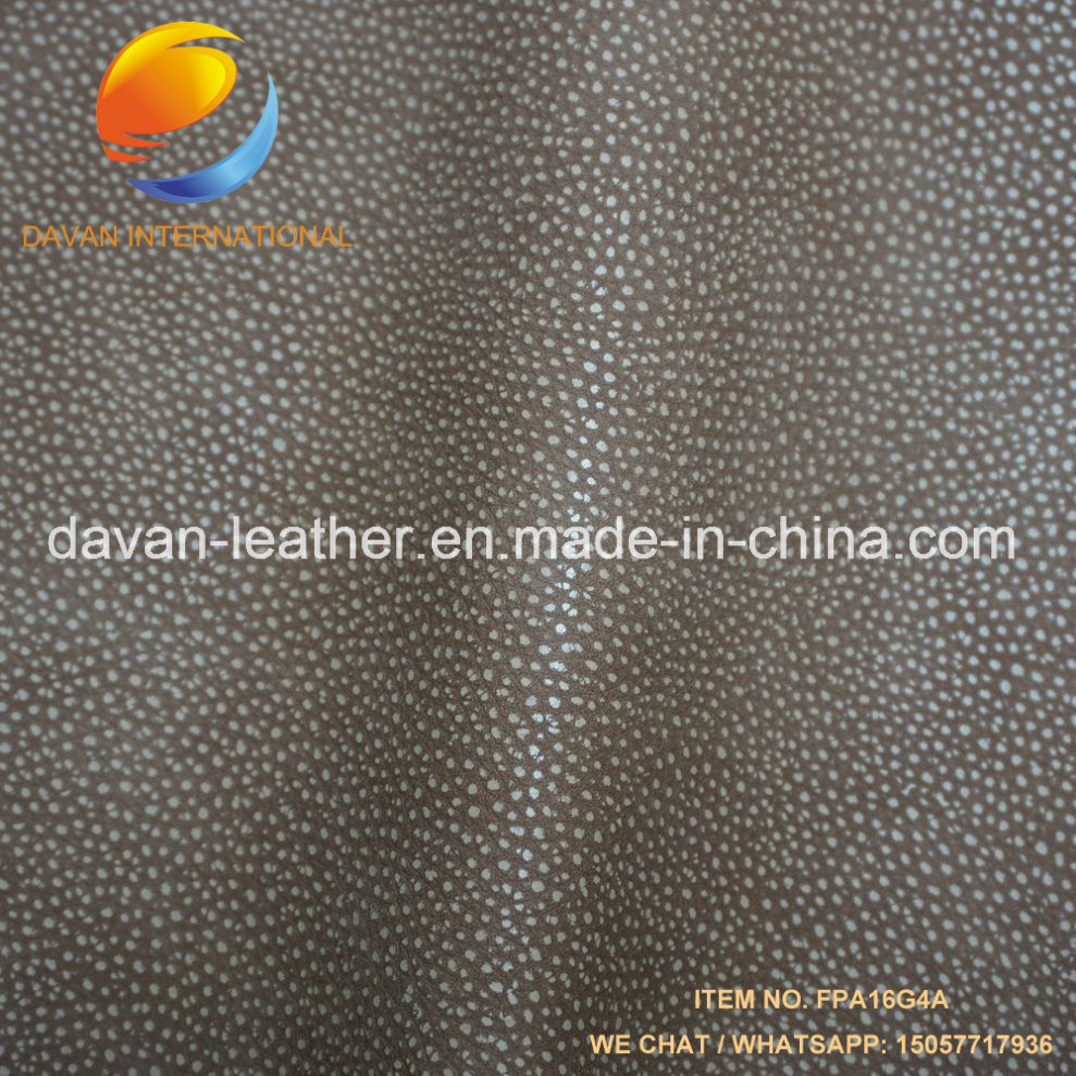Synthetic Leather Leechi Grain Good Hand Feeling for Handbag Shoes