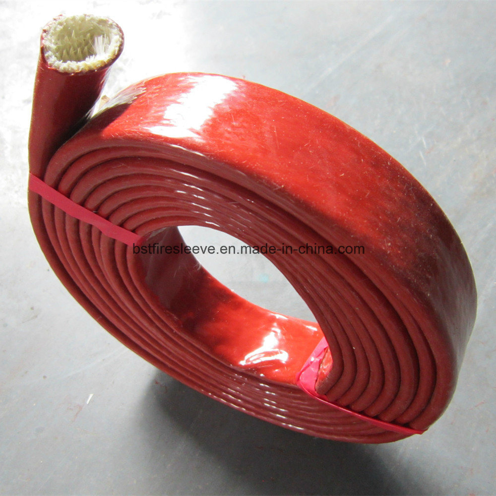 Silicone Rubber Coated Fiberglass Fire Sleeve for Hose and Cable pictures & photos