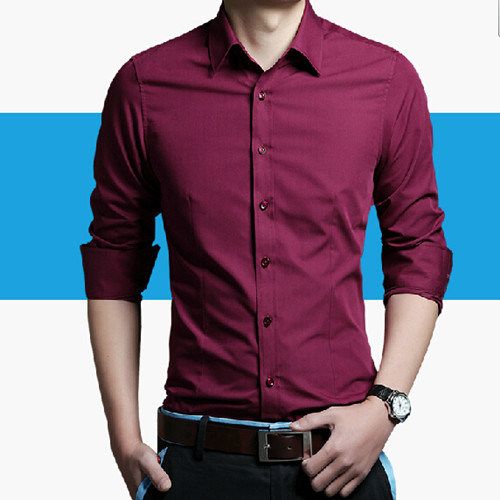 Men′s Formal Fashion Long Sleeve Dress Shirt