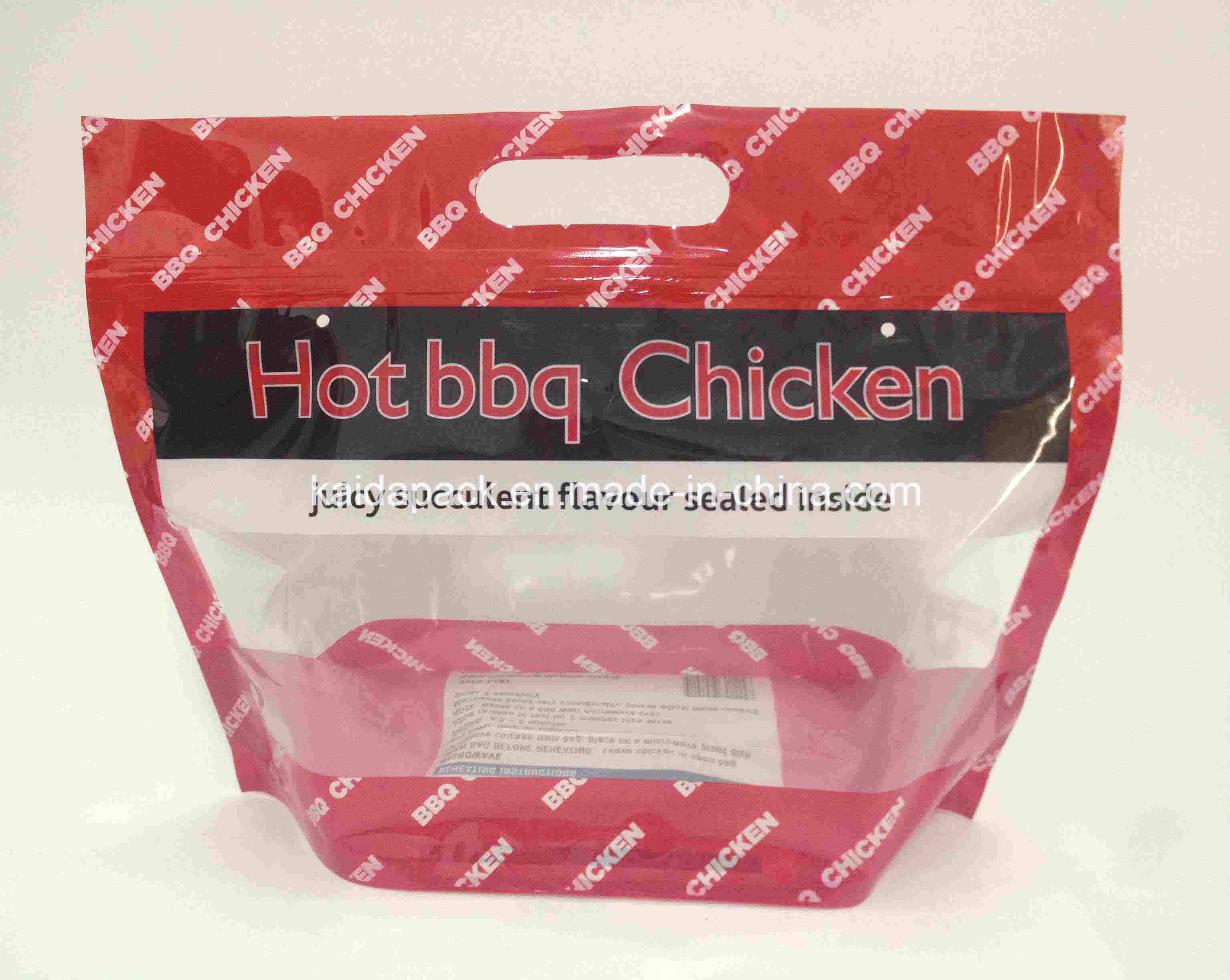 Microwave Hot BBQ Chicken Bag with Zipper