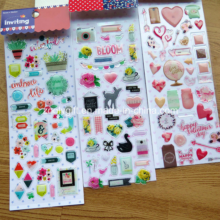 Custom 3D Strong Self Adhesive Epoxy Clear Resin Decorative Stickers pictures & photos