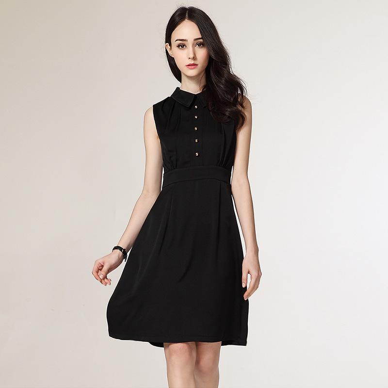 China Latest Office Wear Designs Sleeveless Formal Straight Dress ...