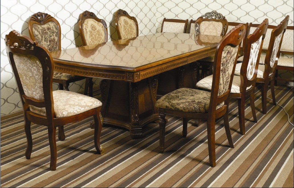 China Hotel Furniture Luxury Dining Room Sets European Style Restaurant Golded Foil Chn 019