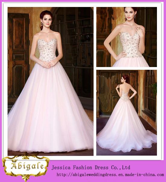 China 2014 New Hot Ball Gown Organza Beaded Sweetheart Sleeveless ...