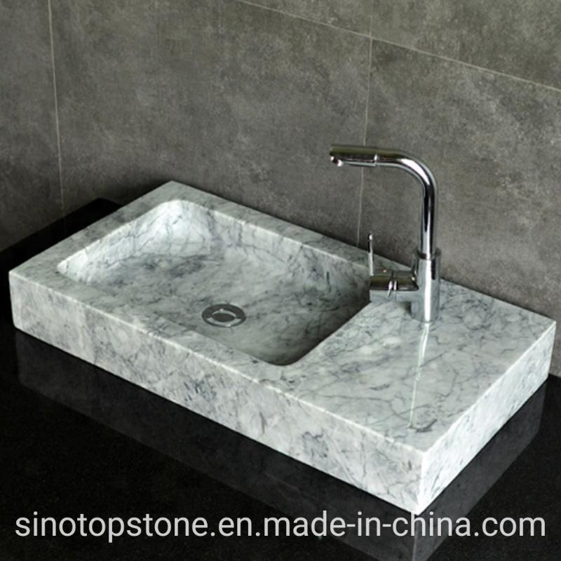China Stone Bathroom Sink White Marble Long Narrow Bathroom Vanity Sink Stone Vanity Sink China Bathroom Sinks White Marble Stone