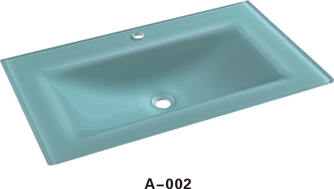 China Stone Glass Vanity Top A002, Glass Vanity Tops For Bathrooms