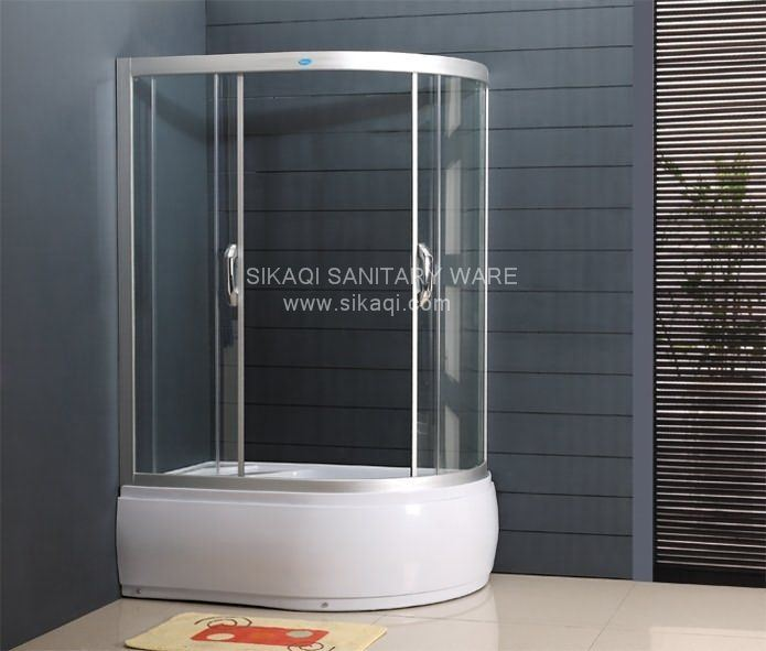 Oval Shower Enclosure with High Profile Tray
