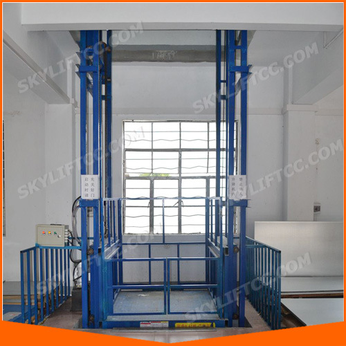 China Vertical Electric Guide Rails Lift Elevator Photos & Pictures