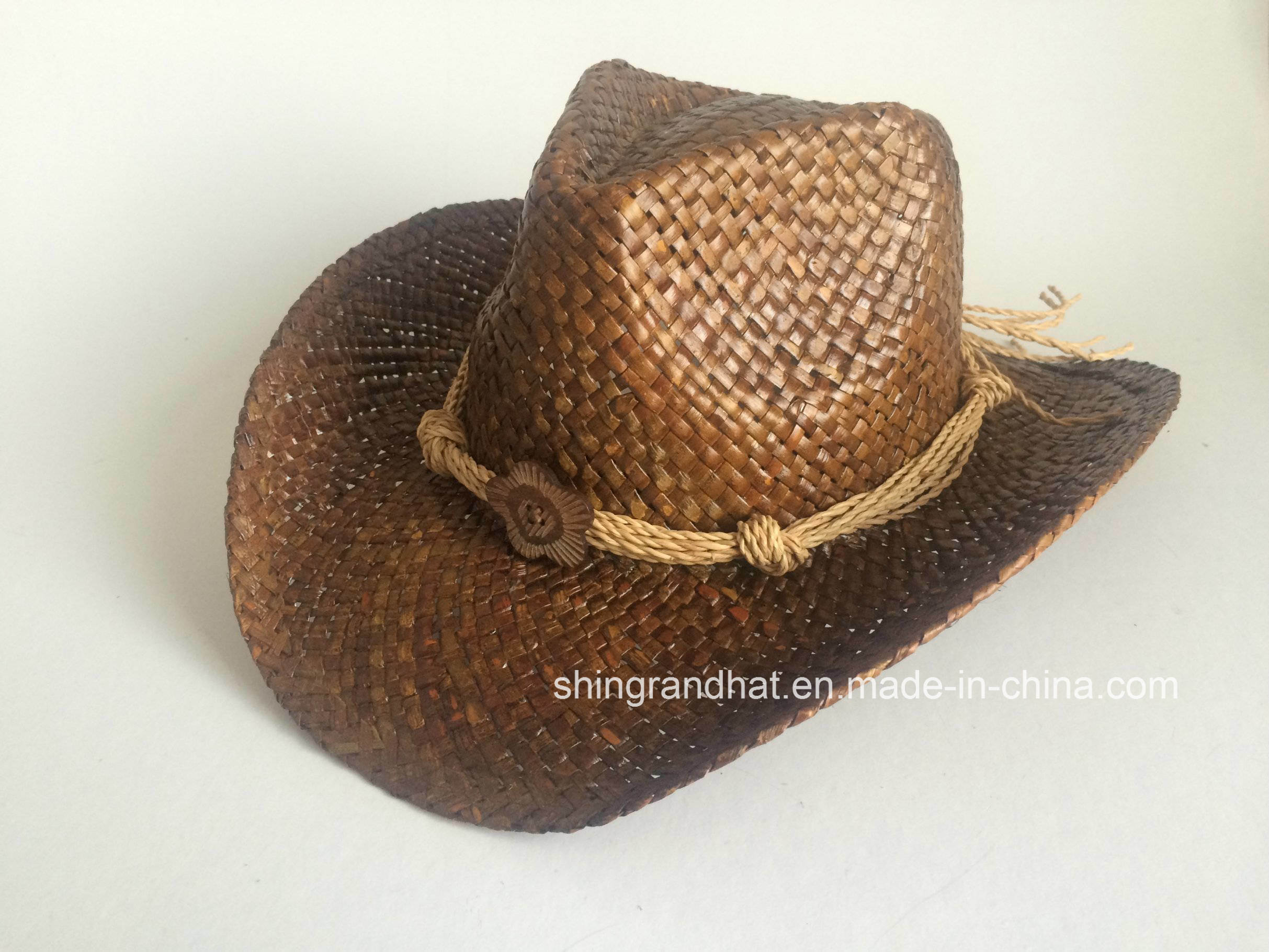 China Paint Seagrass Straw Cowboy Hat Photos   Pictures - Made-in ... 5865c4ebdf1