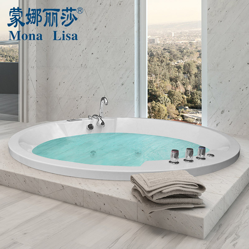 China Monalisa Acrylic in Ground Indoor Circular Jacuzzi Bathtub ...