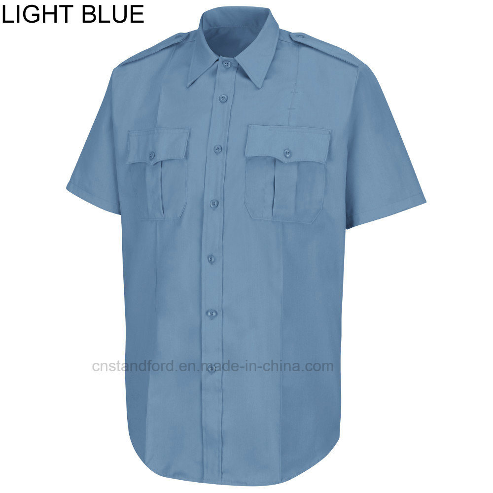 China Wholesale Men Field Work Wear Short Sleeve Denim Uniform Shirt Tendencies Longshirt Plain Navy