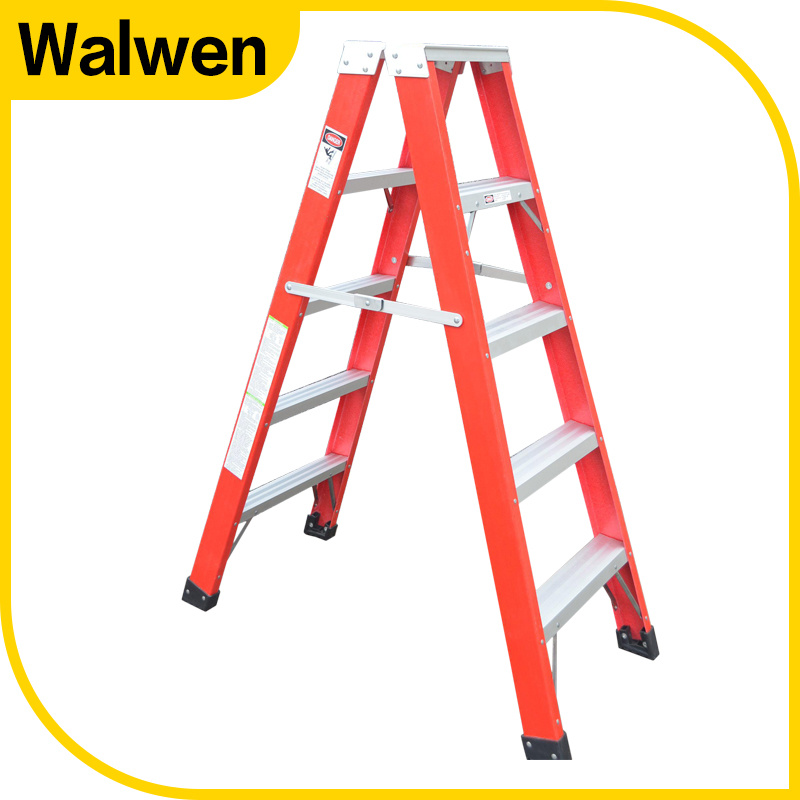Made in China Fiberglass Folding Household 9 Step Ladder pictures & photos