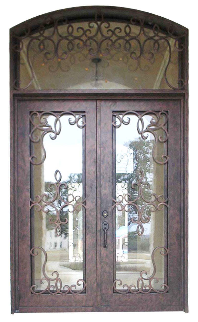Hot Ing Front Iron Double Door