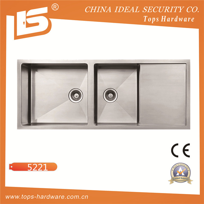 Stainless Steel Handmade Sink Khd5221, 22gauge