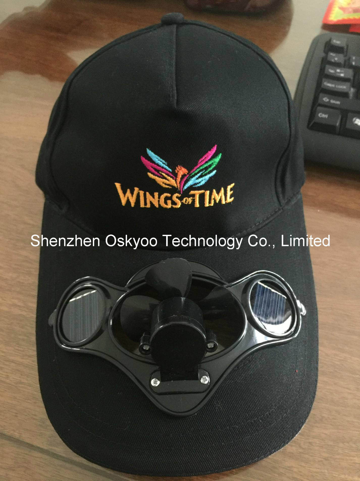 China Sports Sun Hat Solar Powered Cooling Fan Cap Photos   Pictures ... c595157bc57