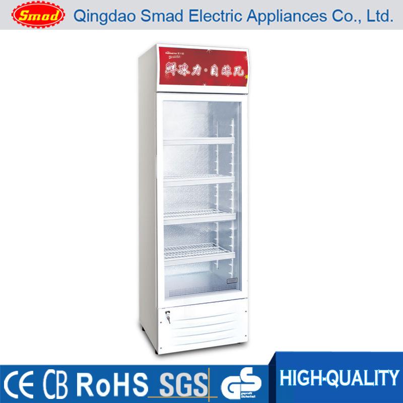 China Commercial Single Glass Door Upright Display Fridge China