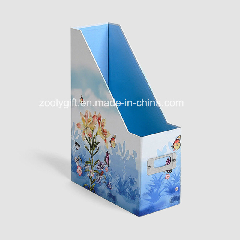 Desktop Cardboard File Holder Storage Box Magazine File Holder Box