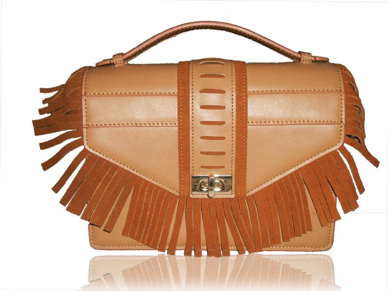 232e5d8eb9 China Popular Fringe Tassel Crossbody Lady Handbag Leather Bag - China  Handbag