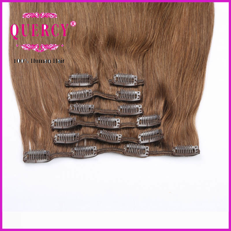 Top Quality Finest Fashion Grade 8A 100% Human Remy Virgin All Cuticle Clip Hair pictures & photos