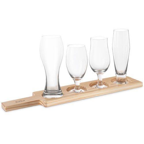 Hot Item Wooden Beer Tasting Tray Beer Flight Tray For Beer Lover Gift