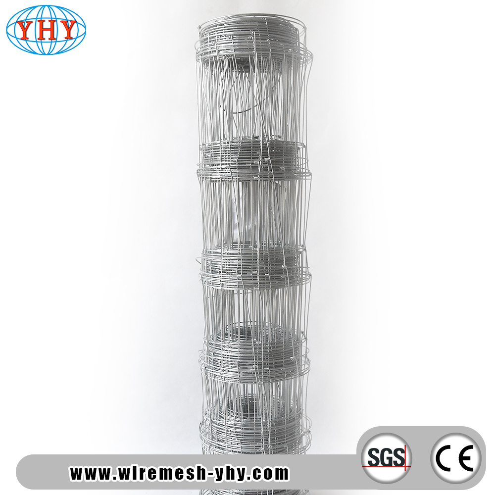 China 4FT Heavy Galvanized Steel Hinge Joint Woven Wire Farm Fence ...