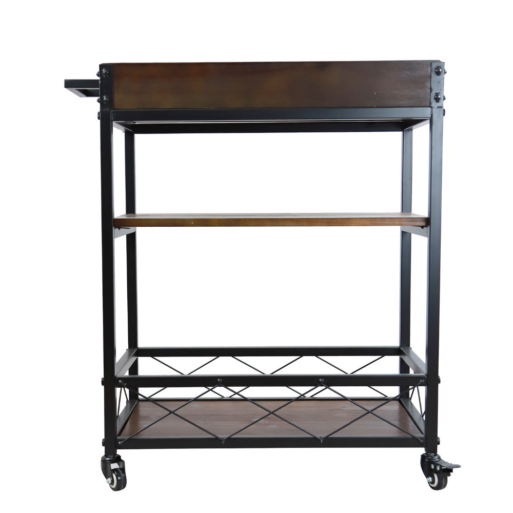 China Bar Serving Cart Hotel Dining Car Kitchen Trolley Holder Cart ...