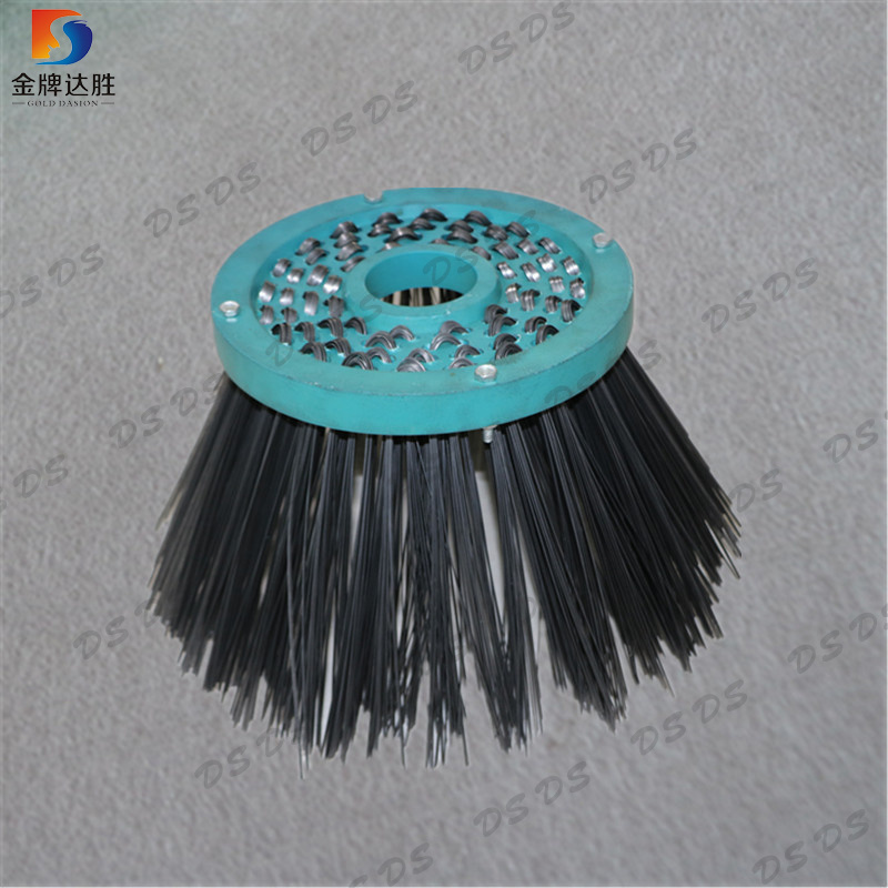 China Steel Wire Wafer Sweeping Road Cleaning Cup Brush - China ...