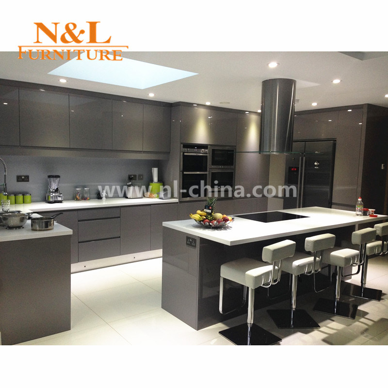 [Hot Item] Wooden Kitchen Cabinet High Gloss Kitchen Furniture Anti-Scratch  Kitchen Cabinets