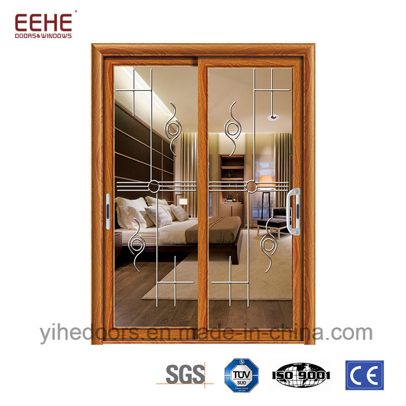 China Double Glazing Aluminium Sliding Doors Windows For Interior