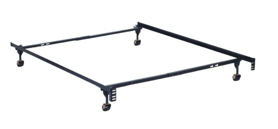 China Heavy Duty 4-Leg Adjustable Metal Bed Frame Without Double ...