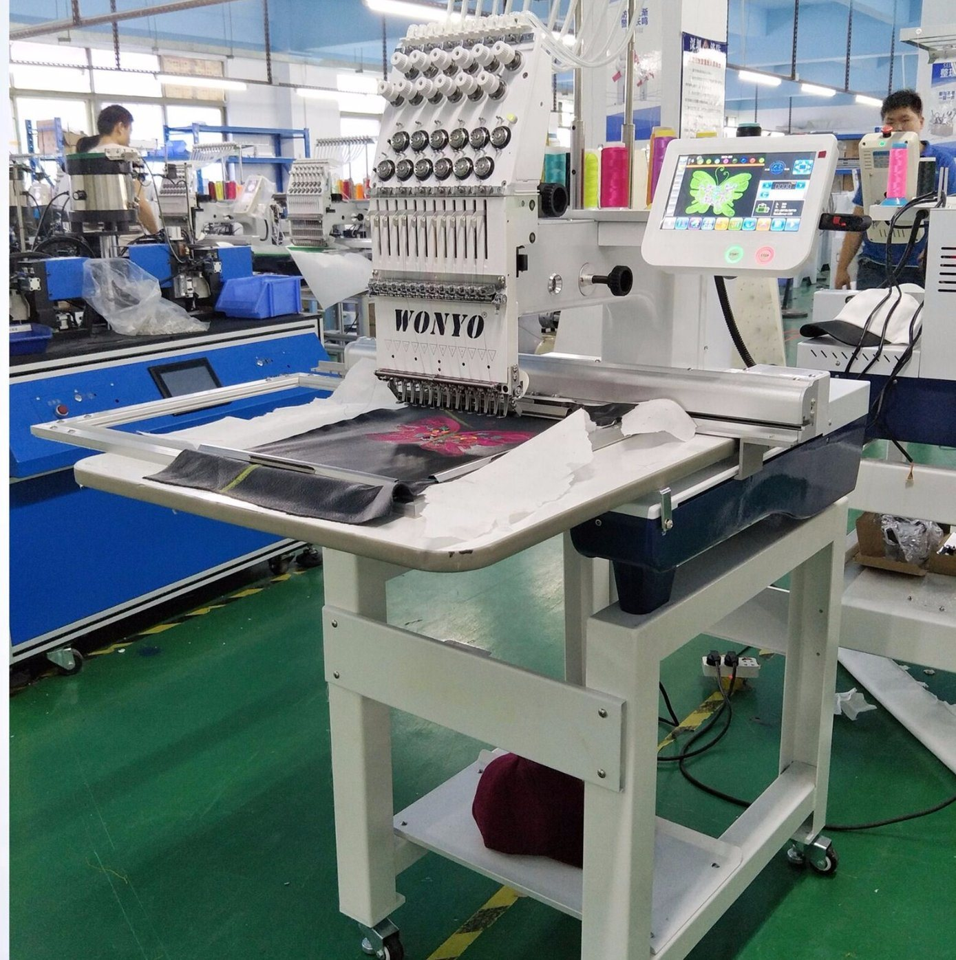 China Single Head Embroidery Machine With All Machine Parts Wy1201