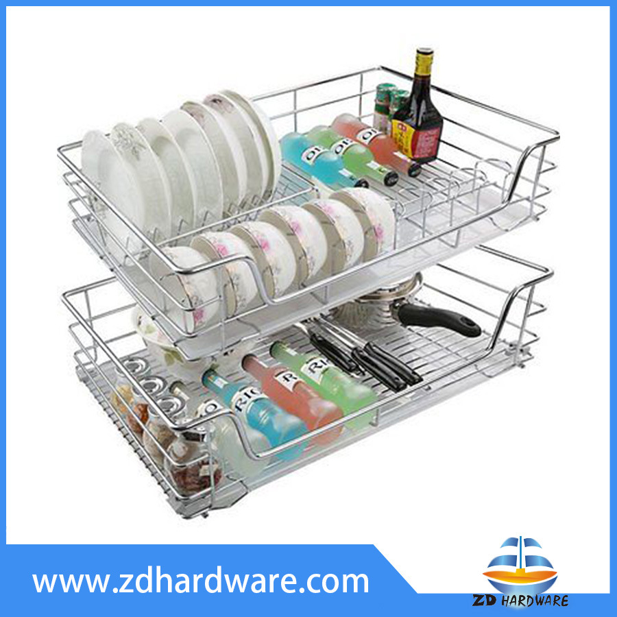Chrome Basket Kitchen Pull out Baskets Multifunction Cabinet Accessories pictures & photos