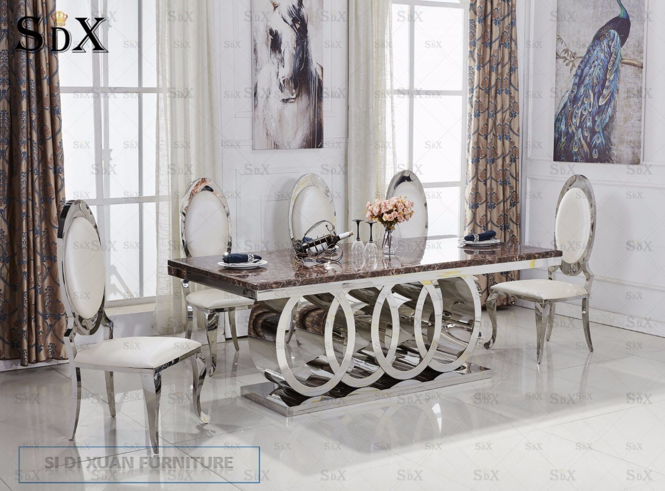 Swell Hot Item Modern Silver Stainless Steel Dining Chair Wedding Chair Machost Co Dining Chair Design Ideas Machostcouk