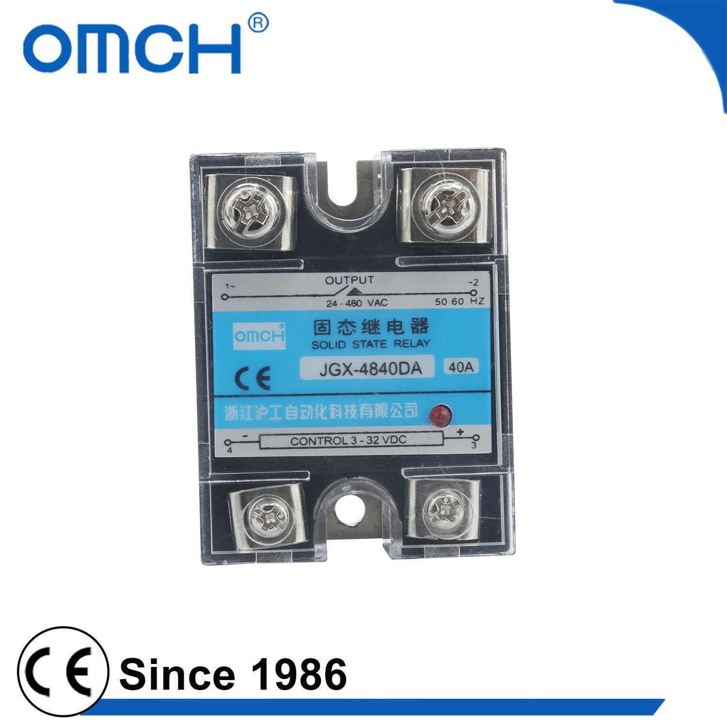 China Omch Jgx 4840da 40a Single Phase Voltage Regulate Solid State Relay Dc Ssr