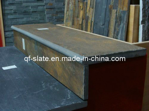 Elegant Rusty Slate Stepping Tile Stair