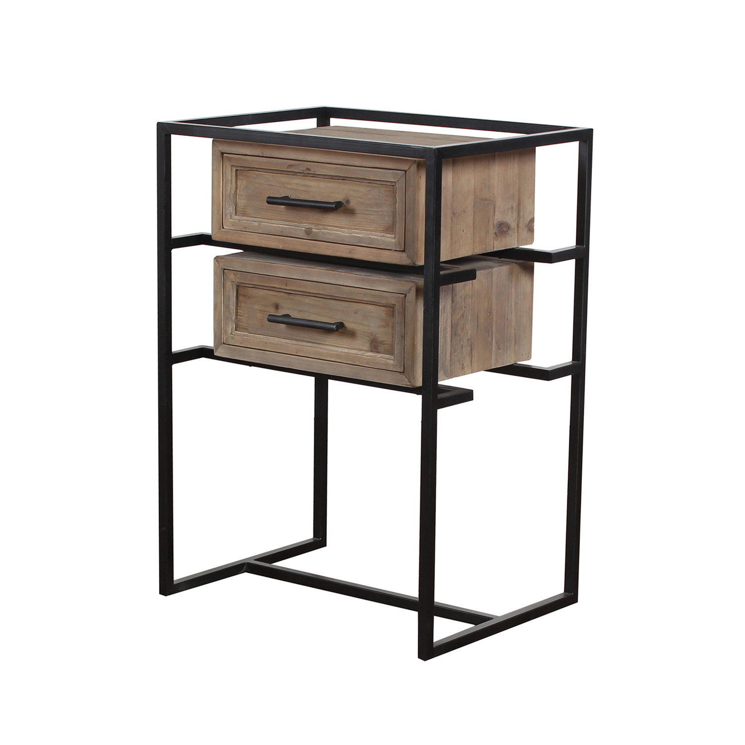 China Retro Industrial Bedside Table Vintage Nightstand