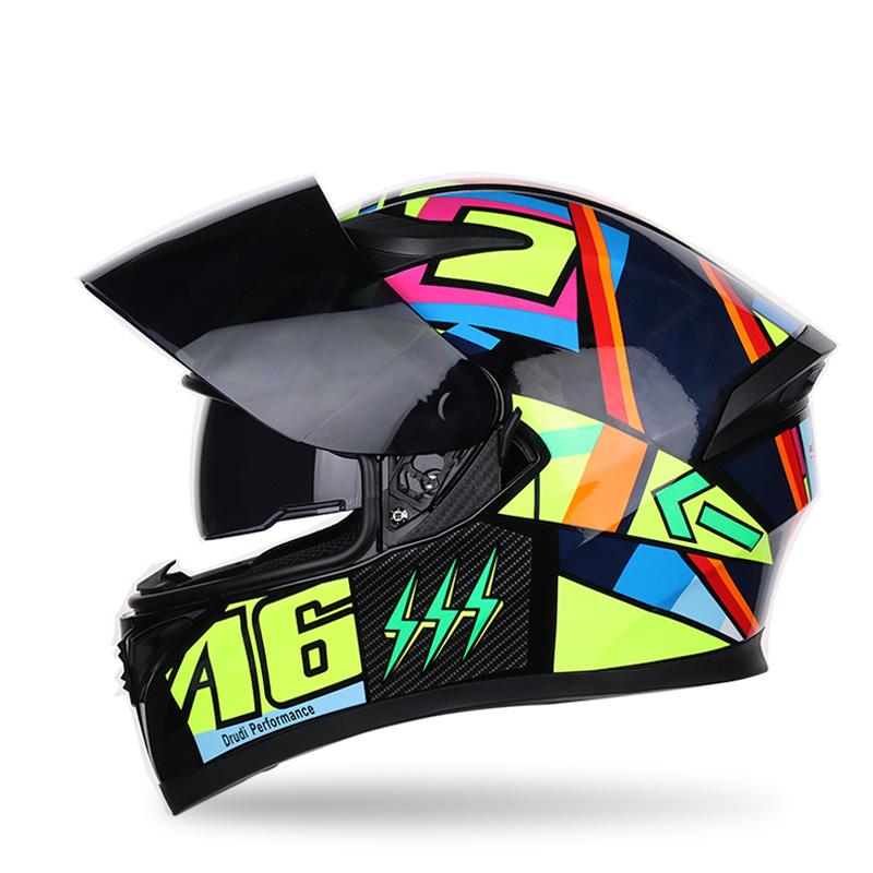 China Custom Motorcycle Motorbike Full Face Helmets For Men