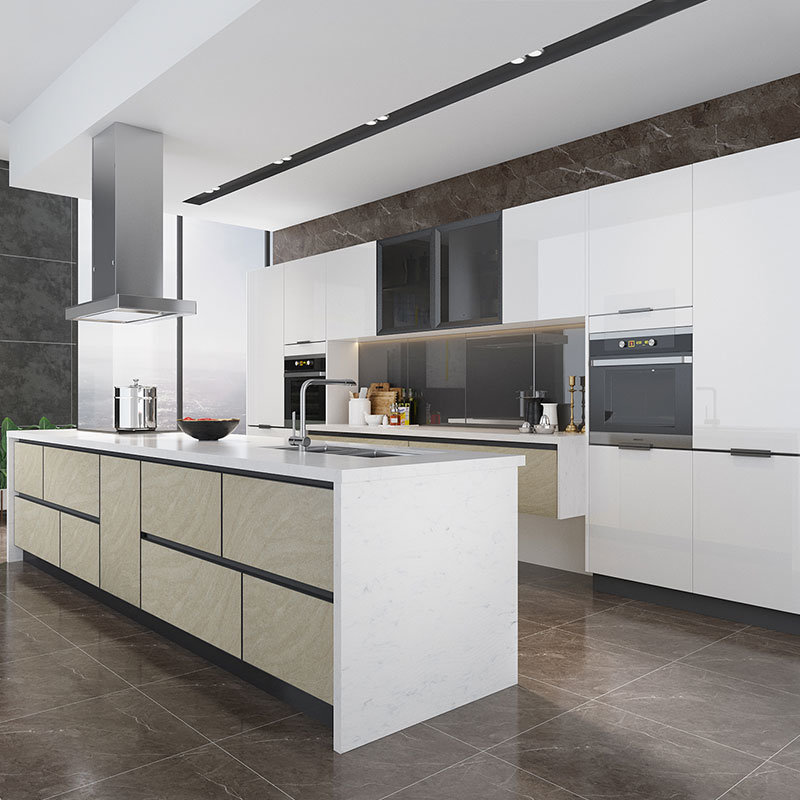 Polyurethane Kitchen Cabinets China Oppein Custom White Polyurethane Flat Pack Rta Kitchen